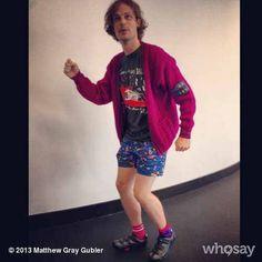 Matthew Gray Gubler - nice biking outfit LOL