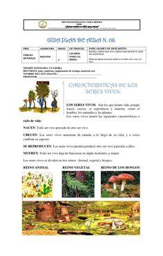 INSTITUCION EDUCATIVA PABLO NERUDA                                                  SEDE: ____                            ... Pablo Neruda, Grammar Book, Science Classroom, How To Plan, Instagram, Animals, Earth Science, Science Lessons, School