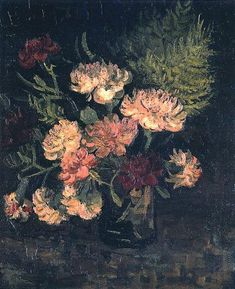 Vincent van Gogh. Vase with Carnations. Paris: Summer 1886   # Pin++ for Pinterest #