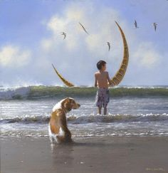 Jimmy  Lawlor    ACRYLIC   Crescent of a Wave