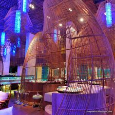 Dine inside a giant fish trap.