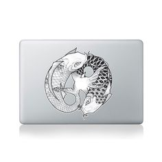 Ying Yang Koi Fish Vinyl Sticker for Macbook (13/15) or Laptop by Kitty Foster