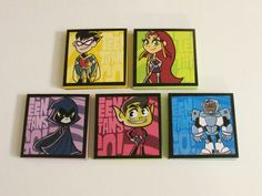 Teen Titans Go Note Pads Set of 5 - Excellent Party Favors - Robin - Beast Boy - Cyborg - Starfire - Raven from ScooBaDee Gifts Teen Titans Go Characters, Sticking Stuffers, Godzilla Birthday Party, Starfire And Raven, Video Game Party, Beast Boy, Superhero Party, Birthday Party Favors, Goodie Bags