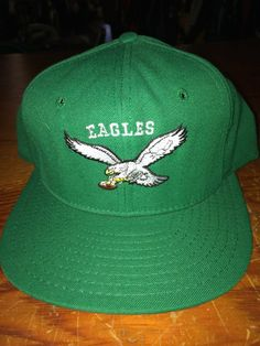 Philadelphia eagles vintage 1990 snap back hat veterans stadium. Snap  Backs cfb8573d9