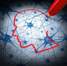 picture of brain - Neurology research concept examining the neurons of a human head to heal memory loss or cells due to dementia and other neurological diseases as a mental health metaphor for medical research hope - JPG