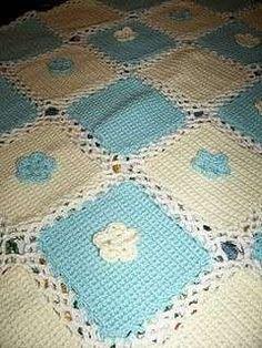 schemi maglia per copertine - copertina lettino