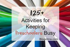 127+ Activities to Keep Preschoolers busy - Blogelina