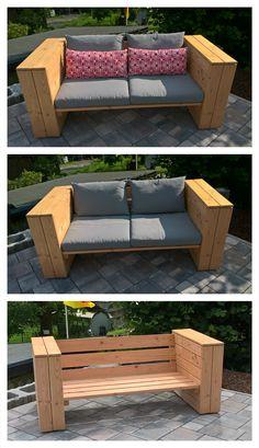 Garten-Loungesofa aus Douglasie