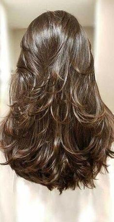 Haircuts For Long Hair With Layers, Haircuts Straight Hair, Long Layered Haircuts, Long Hair Cuts, Layered Hairstyles, Trendy Hairstyles, Long Haircuts For Women, Haircut Long Hair, Layered Thick Hair