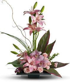 Imagination Blooms with Cymbidium Orchids Flowers, Imagination Blooms with Cymbidium Orchids Flower Bouquet - Teleflora.com