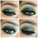 Half cut crease green