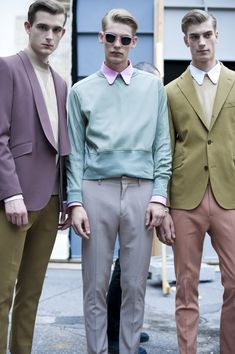 Perfect palette, Acne Men's Spring 2012. #menswear #style