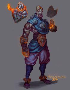 ArtStation - Fireborne Monk, Nicolas Acuna