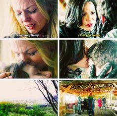Emma and Henry true loves kiss 1x22 Regina and Henry true love kiss 3x19