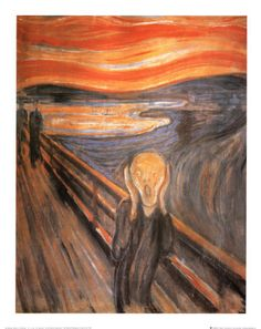 Check out The Scream by Edvard Munch - one from this series is soon to be on sale at Sothebys.