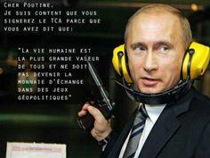 Motiver les dirigeants du monde à soutenir le #Armstreaty. Effet par association image et citation dissonantes.