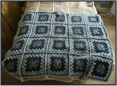 Crochet Patterns for the beginner or the advanced: Blue Granny Square Baby Blanket