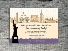 I Love New York Invitation Party Design - DIY Printables. $20.00, via Etsy.