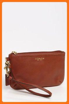Coach Legacy Leather Small Wristlet Brass/Cognac - Wristlets (*Amazon Partner-Link)