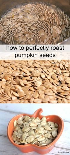 How to perfectly roast pumpkin seeds {via Created By Diane} - This is a great guide for making the perfect roasted pumpkin seeds!