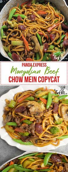 This Mongolian Beef Panda Express Chow Mein Copycat tastes much better than the original. You can have some Panda at home for the fraction of a price.
