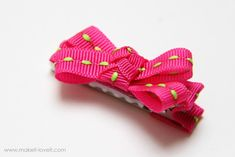 DIY Simple bow hair clip - to reapply for burlesque hair clips