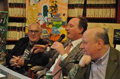 Roberto Mattioli, Luca Filipponi ed il prof. Sandro Trotti dell'Accademia delle Belle Arti di Roma