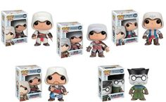 Funko Pop Games Assassin's Creed Action Figure Set of 5 http://popvinyl.net #funko #funkopop #popvinyl