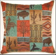 Laramie in Terracotta, decorative pillows in 17 x 17 or 26 x 26 size by Creative Home Furnishings from Kellsson Home Linens.