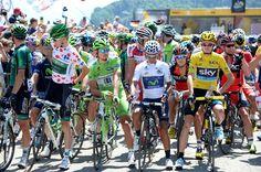 Pierre Rolland, Peter Sagan, Nairo Quintana, Chris Froome, Tour de France 2013, stage 20, jerseys, pic; ©Stefano Sirotti