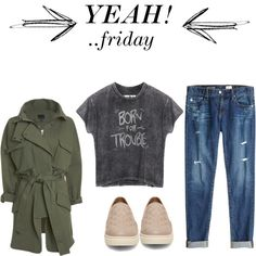 yeah, friday by bius1522 on Polyvore featuring Marissa Webb, AG Adriano Goldschmied and Steve Madden