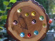 Glasstein Holz Sonnenfänger 15 cm