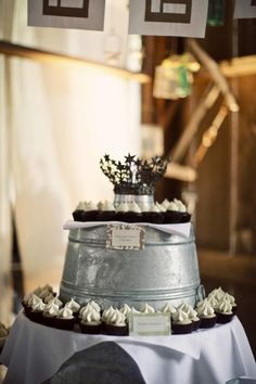 OMG!!! Cutest cupcake tower for my 'rustic,' simple wedding