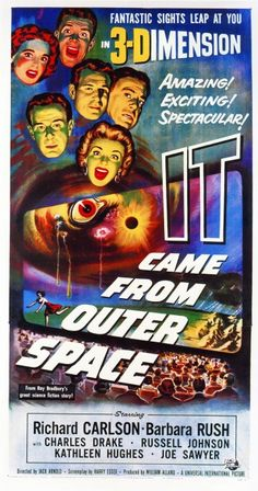 1953 Vintage Movie Poster: It Came from Outer Space