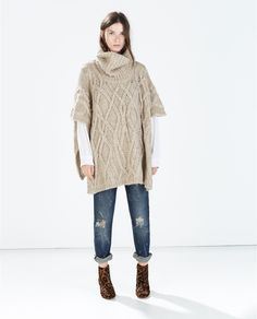 I absolutely love this poncho. It looks so comfy and stylish!