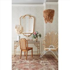 Constructed from mirror and rattan Side Chairs, Dining Chairs, Outdoor Lounge, Outdoor Spaces, Occasional Chairs, Decoration, Teak, Home Accessories, Wicker