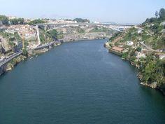 Vista desde el puente hacia el interior #Oporto