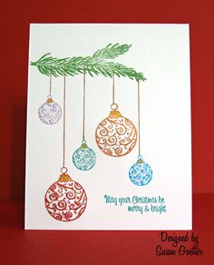 xmas cards easy drawing drawings paint gift tree crafts five colors