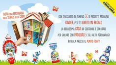 Tutti coloro che si recheranno da Esselunga e acquisteranno prodotti Kinder Pasquali riceveranno la casa di Pasquale come premio sicuro Kinder