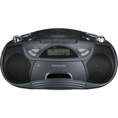 Memorex - FlexBeats CD/Cassette Boombox - Black, MP3262