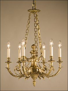 Solid brass traditional #chandelier.  We can help you with installation! http://www.trimelectric.com/chandelier-installation-expert