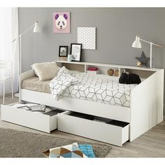 Purchase an Parisot Sleep Day Bed at Room To Grow. We offer price match availability on the Parisot Sleep Day Bed & free delivery. Single Beds With Storage, Daybed With Storage, Bed Frame With Storage, Kids Beds With Storage, Room Ideas Bedroom, Bedroom Decor, Kids Bedroom, Bedroom Lamps, Bedroom Lighting