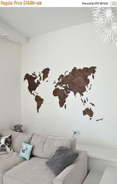 Wall Map Of The World Wooden World Map Large Travel Map Rustic Home - Large wall maps for sale