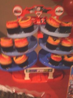 Cupcake display... Fisher price race track...