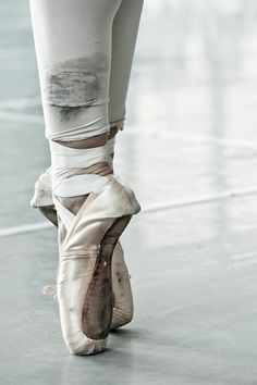 love worn ballet shoes...
