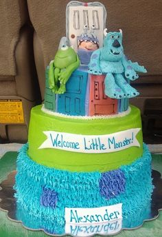 Monster's Inc. baby shower cake