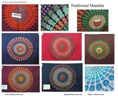 Mandala printed napthol bed sheets