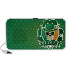 Lucky Irish skull iPod Speaker