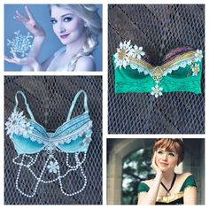 These Anna and Elsa Frozen inspired bras are on sale for Black Friday as well as the rest of the premade items in my etsy shop! ❄️ Elsa is a 32C/34B and Anna is a 34C/36B ❄️ email whythecagedbirdsingz@gmail.com for custom orders
