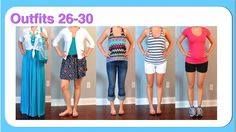 Outfit Posts: (outfits 26-30) one suitcase: beach vacation capsule wardrobe